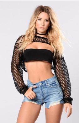 Fasionnova - Fancy Problem Fashion Top - Black